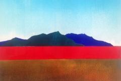 Paesaggio con fascia rossa / Landscape with red belt