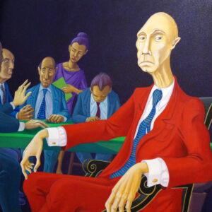 Stefano Galli - acrilico su tela - 60 x 60 cm.